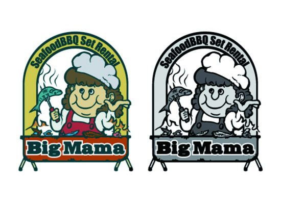 BIG MAMA Logo Illustration Design